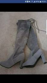 Size 4 grey boots