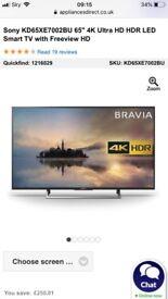 65inch tv sony 4k smart uhd
