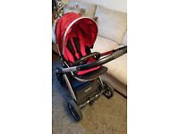 Babystyle Oyster 2 Mirror Pram Tomato Red Colour Pack SK8 £150 Cheadle