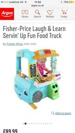 Brand new Fisher price serving fun food truck