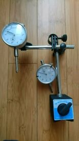 DTR Dial gauges x2 with 1 magnetic base
