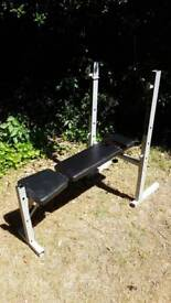 York Fitness Multi Attachment Weight Bench (Pulldown + Leg raise attachments)