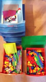 Mega Bloks (lego style} assorted in Caddy