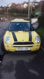Mini one car good condition new ABS system needs new gearbox not driveable, no timewasters please!