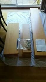 Pair of Large Wooden Bookshelves Beech Veneer Habitat Solid Toledo