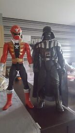 Power Ranger and Darth Vader Figures