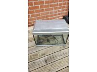 Fish tank with light and electric filter pump