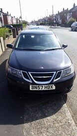 SAAB 93 BLACK 2007 WITH REAR DVD PLAYER FOR THE KIDS AND INBUILT SAAB SAT NAV OPEN TO OFFERS