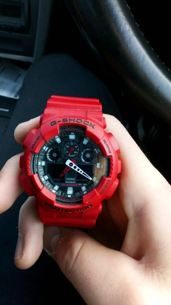 G-shock watch red