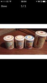 Tea coffee sugar and biscuit pot containers