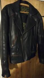 Frank Thomas leather bikers jacket large
