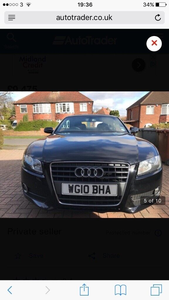 REDUCED Audi A5 convertible - GREAT CONDITION
