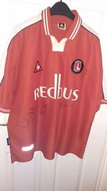 Official Signed Charlton Athletic Kit Shirt