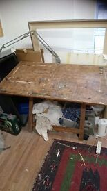 Draughtsman table for artists studio