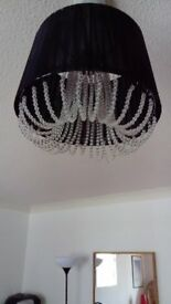 Next Light Shades . Black with crystal beading.