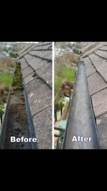 Gutter cleaning. Repaired and replaced
