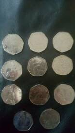 Collection Of rarer 50ps