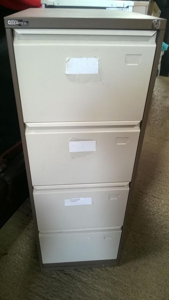 4 drawer metal filling cabinet with key