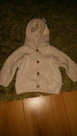 Newborn bear cardigan