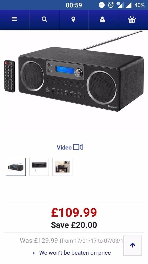 Jvc Rdd70 Dab Radio Bluetoothwifi With Insurance Until 2019 In Rhgumtree: Jvc Radio Bluetooth Wi Fi At Gmaili.net
