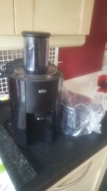 Braun juicer as new still with stickers on