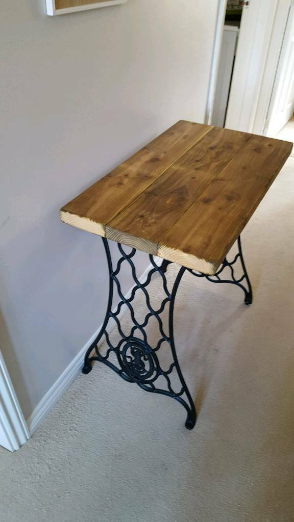 Upcycled Singer Sewing Machine Side Table