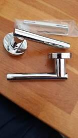 Polished chrome door handles