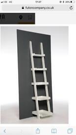 Brand New The Futon Company Narrow Ladder Shelf White