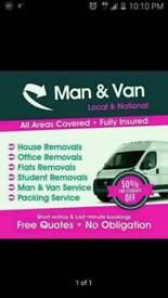 24/7 Man and van service house,office,Assembly furmiture,rubbish,piano removals service