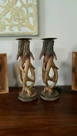 Pair of Stag Deer Antler Candle Sticks from TK Maxx NEW XMAS GIFT