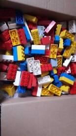Assorted duplo bricks