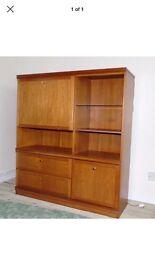 Meredew Solid Teak Bureau/Display Cabinet - £40ono