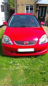 **REDUCED**Honda Civic Ep3 Type R Premium Edition 2.0L 55 Plate in Milano Red