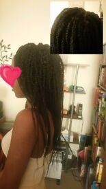 Afro and European mobile hair dresser box braids, crochet and weave
