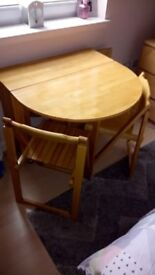 JOHN LEWIS DROP LEAF TABLE AND 4 CHAIRS