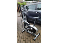 Cross-trainer and sitting-bicycle
