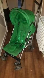 Green stroller buggy