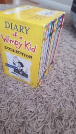 Diary of a wimpy kid set of 10 books in a box