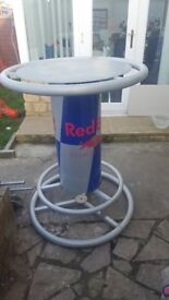 This is a geniue Red bull poseur table