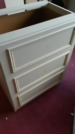 Sharp's dressing table unit: 2 sets of 3 drawers and shallow drawer with jewellery tray insert