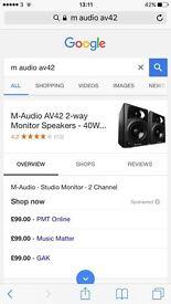 M-Audio AV42 HQ Monitor Speakers