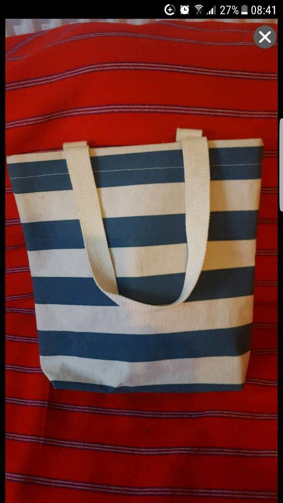New small stripped bag