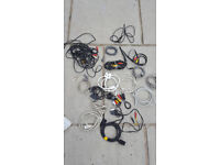 17 various cables and leads , Usb , scart, power leads ,stereo,ect