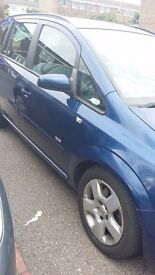 Vauxhall zafira 2008, 7 seater, petro, low mileage and 5 doors.
