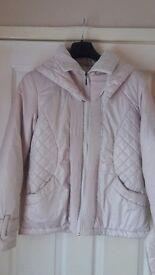 NEW Ladies Women's F&F Cream Belted Jacket Coat size 12