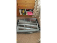 Silver Grey Shoe Rack on Castors