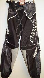 wulfsport race pants motocross motox quad enduro adult size 34 black grey