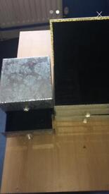 Mirrored jewellery boxes