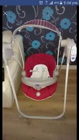 Chicco baby swing with remote