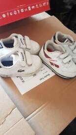 baby shoes lacoste and reebok uk 4